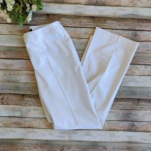 Lafayette 148 New York White Wool Trousers Pants